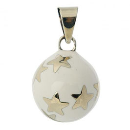 Bola blanc petites étoiles argentées BABYLONIA