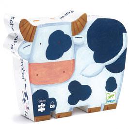 Puzzle Les vaches à la ferme 24 pcs +3ans DJECO