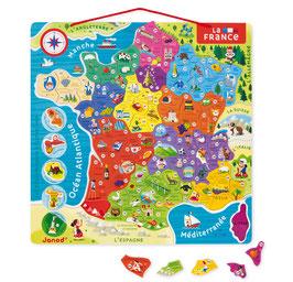 Carte de France magnétique JANOD