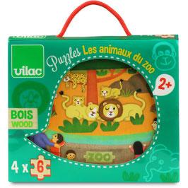 Puzzles Les Animaux du Zoo +2ans VILAC