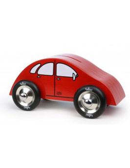 Tirelire voiture rouge bois VILAC