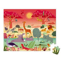 Puzzle Réserve Animalière 54 pcs JANOD