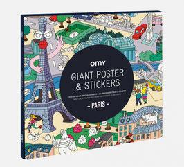 Poster géant & stickers Paris OMY