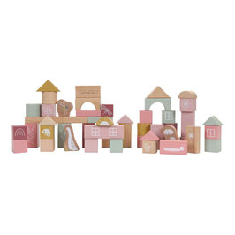 Tonneau de blocs de construction Pink LITLLE DUTCH