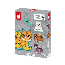 Puzzles évolutifs Animaux JANOD / WWF