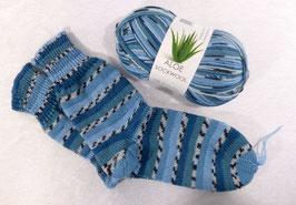Color Socken / Blau-Petrol
