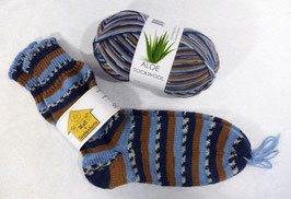 Color Socken / Braun-Blau
