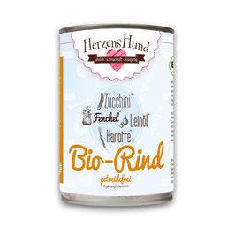 Herzenshund Bio-Rind mit Bio-Zucchini - getreidefrei-