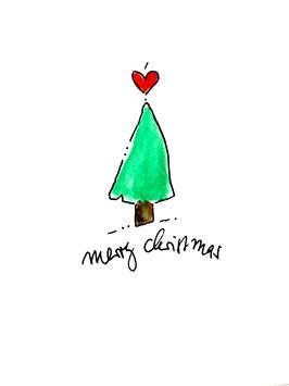 """Merry Christmas"", Postkarte"