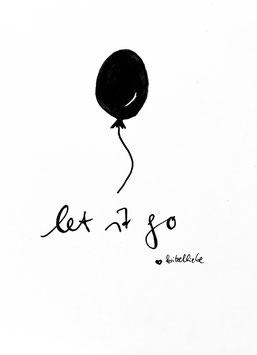 """Let it go"", Postkarte"