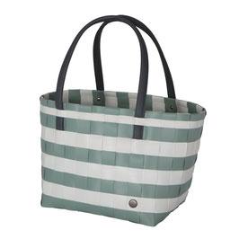 Handed By Shopper Color Block Vintage greyish green Einkaufstasche Strandtasche