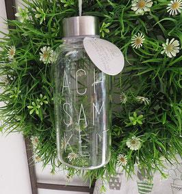 """RÄDER Design Glasflasche Trinkflasche Balance """"Achtsamkeit"""" 450 ml"""
