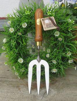 Handgabel Great British Garden Edelstahl Griff Eschenholz Gartenwerkzeug