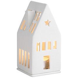 RÄDER Design Mini Lichthaus Traumhaus 13 cm Porzellan weiß - NEU