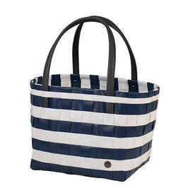 Handed By Shopper Color Block Vintage ocean blue Einkaufstasche Strandtasche