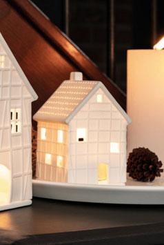 RÄDER Design Fachwerkhaus klein 12 cm Porzellan weiss - NEU