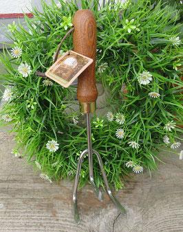 Handkralle Great British Garden Edelstahl Griff Eschenholz Gartenwerkzeug
