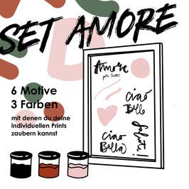 """Siebdruck Set """"Amore"""" für zu Hause"""