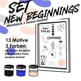 """SIEBDRUCK SET """"New Beginnings"""" FÜR ZU HAUSE"""