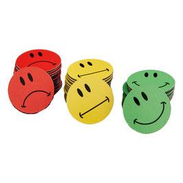 30 bunte Smileys Magnete ø 2-10cm