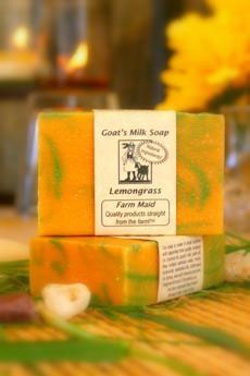 Lemongrass Goat's Milk Soap ~ All Natural