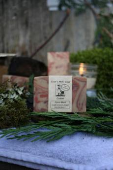Cedar Goat's Milk Soap ~ All Natural