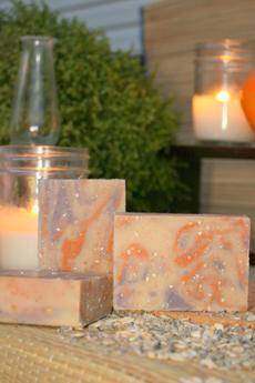 Lavender, Tea Tree, Orange & Oats Goat's Milk Soap ~ All Natural
