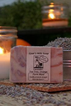 Lavender, Tea Tree & Orange Goat's Milk Soap ~ All Natural