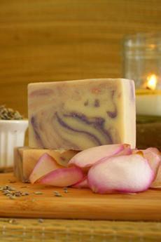 Rose Lavender Goat's Milk Soap ~ All Natural