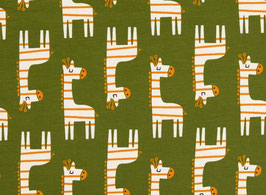 Organic Jersey Giraffe gelb/grün