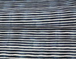 Jersey Streifen blau/weiß Aquarelliert