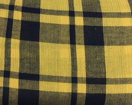 Viskose Karo gelb/blau