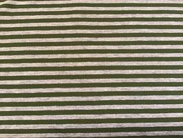 Sweat Streifen oliv/grau