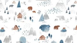 BW Bären im Wald hellblau