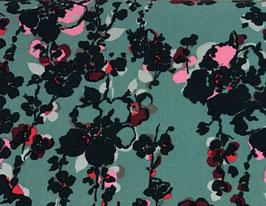 BW Blumen petrol/pink