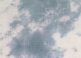 Musselin Batik hellblau
