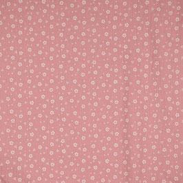 Musselin Streublümchen rosa