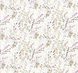 Jersey Digital Print Gartenblumen pastell