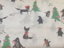BW Fuchs und Pinguin Winter