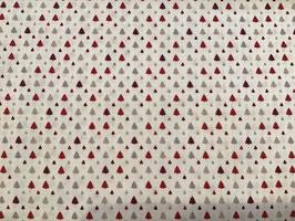 BW Tannenbäume rot auf weiß