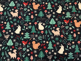 BW Weihnachten Eichhörnchen/Hase