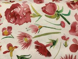 Canvas Blumen weiß