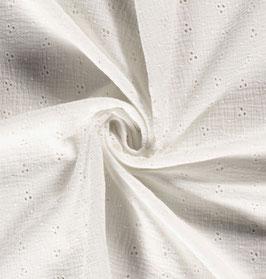 Musselin Lochstickerei weiß