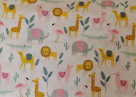 BW Löwe, Lama & Giraffe rosa/gelb