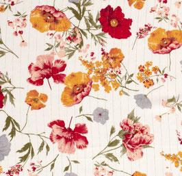 Viskosekrepp Blumen/Goldfäden