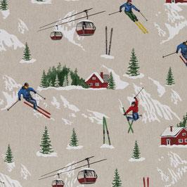BW Leinenoptik Skifahrer