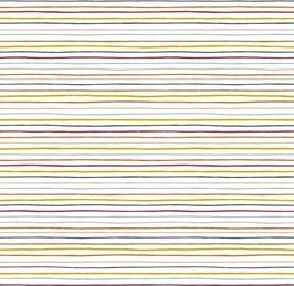 BW Streifen fein gelb/rot/ blau
