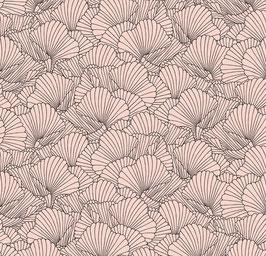 Jersey Blumen skizziert