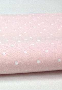 !!NEU!! French Terry- helles rosa mit Punkten