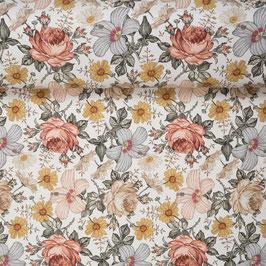 !!NEU!!  FrenchTerry Vintage Flowers